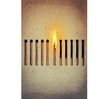 burning alone 2 Photographic Print