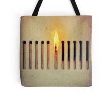 burning alone 2 Tote Bag