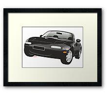 Mazda MX-5 Miata black Framed Print