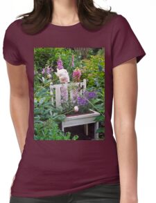 Antique Potty in Flower Garden Womens Fitted T-Shirt