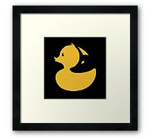 fox and duck Framed Print