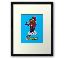 FLIGHT OF THE CONCHORDS - THE HIPHOPOPOTAMUS AND THE RHYMENOCEROS - THE HIPHOPOPOTAMUS VERSION 2 Framed Print