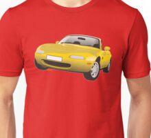 Mazda MX-5 Miata yellow Unisex T-Shirt