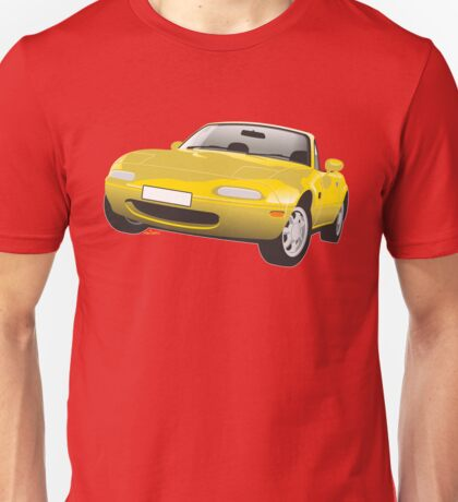 Mazda MX-5 Miata yellow Unisex T-Shirt