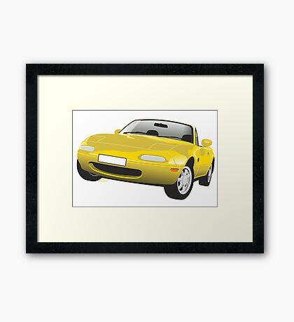 Mazda MX-5 Miata yellow Framed Print