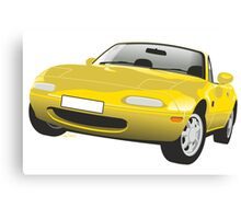 Mazda MX-5 Miata yellow Canvas Print