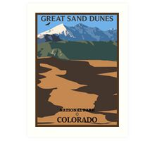Great Sand Dunes (portrait) Art Print