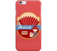 Munich Germany Retro Badge iPhone Case/Skin