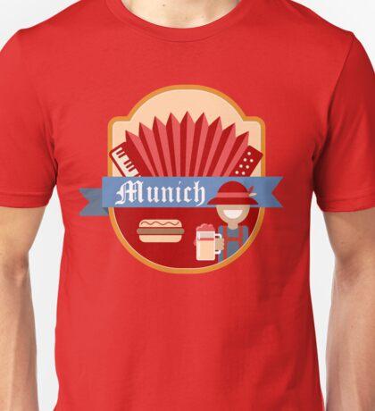 Munich Germany Retro Badge Unisex T-Shirt