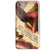 The Writer (Digital Illustration) - Rotated iPhone Case/Skin