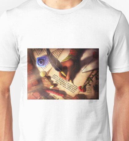 The Writer (Digital Illustration) - Rotated Unisex T-Shirt