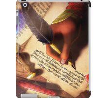 The Writer (Digital Illustration) - Rotated iPad Case/Skin
