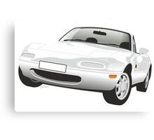 Mazda MX-5 Miata white Canvas Print