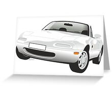 Mazda MX-5 Miata white Greeting Card