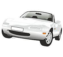 Mazda MX-5 Miata white Photographic Print
