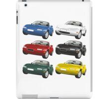 Mazda MX-5 Miata white iPad Case/Skin