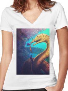 My Old Friend (Digital Illustration) Women's Fitted V-Neck T-Shirt