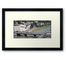 Salzburg Tilt-shift Bridge Framed Print