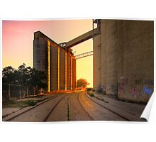Cement works 1 - Geelong Poster