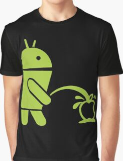 Android peeing apple Graphic T-Shirt