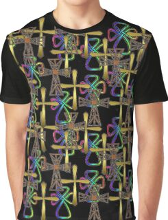 Cross Pattern (on black)  (other colours available) Graphic T-Shirt