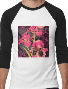 iris flower  Men's Baseball ¾ T-Shirt