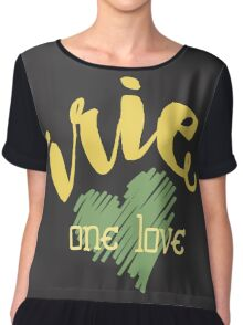 Jamaica Irie  One Love  Chiffon Top