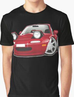 Mazda MX-5 Miata caricature red Graphic T-Shirt