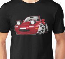 Mazda MX-5 Miata caricature red Unisex T-Shirt