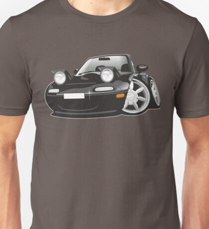 Mazda MX-5 Miata caricature black Unisex T-Shirt