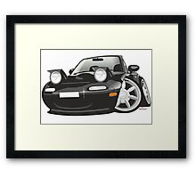 Mazda MX-5 Miata caricature black Framed Print