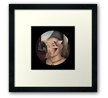 Puzzle face Framed Print
