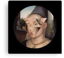 Puzzle face Canvas Print