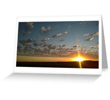 Sunset on the Darling Downs Greeting Card