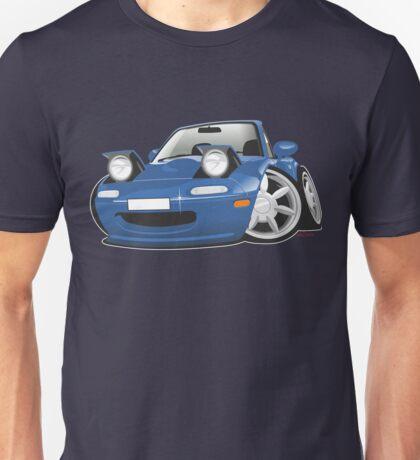 Mazda MX-5 Miata caricature blue Unisex T-Shirt