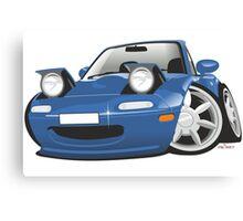 Mazda MX-5 Miata caricature blue Canvas Print