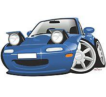 Mazda MX-5 Miata caricature blue Photographic Print