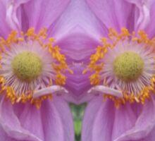 Pink and Yellow Flower Kaleidoscope Sticker
