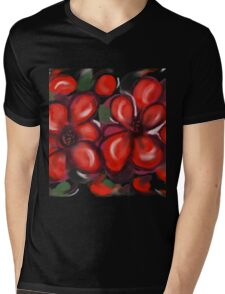 More Red Daisies Mens V-Neck T-Shirt