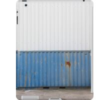 Blue old container iPad Case/Skin