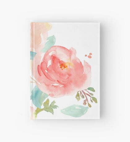 Peonies Watercolor Bouquet Hardcover Journal
