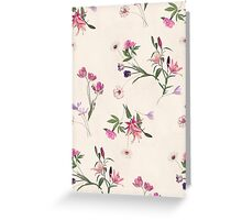 Scattered Floral on Cream Greeting Card