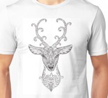 Beautiful forest deer head with horns Unisex T-Shirt