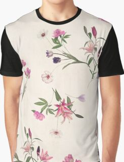 Scattered Floral on Cream Graphic T-Shirt