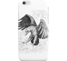 Flying, attacking eagle iPhone Case/Skin