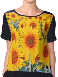 Fields of Sunflowers Chiffon Top