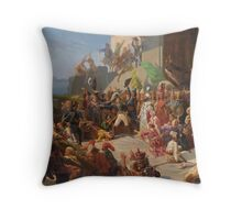 Jules Rigo  FRENCH THE VISIT OF SULTAN SELIM III TO GENERAL SEBASTIANI, Throw Pillow