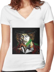 Dr. Who Tom Baker Women's Fitted V-Neck T-Shirt