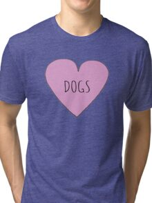 DOG LOVE Tri-blend T-Shirt
