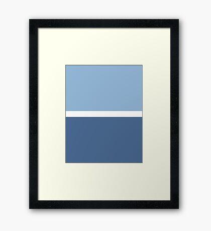 Simple Modern Duotone Airy Blue vs Riverside Fall 2016 Framed Print